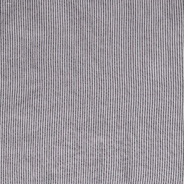 Seersucker streepje donker grijs-wit