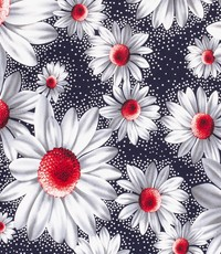 Tricot margriet rood