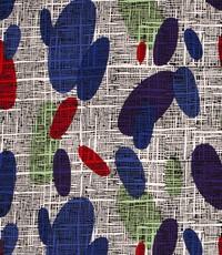 Tricot vlekken blauw paars en groen