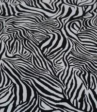 Tricot zebra zwart wit
