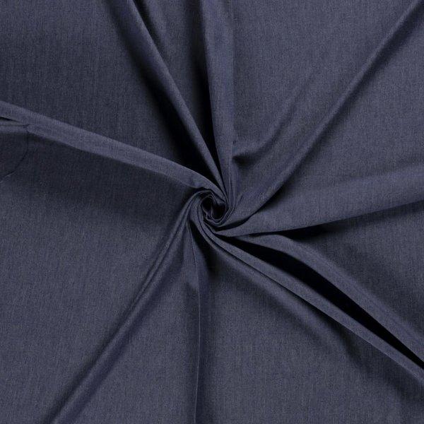 Voorgewassen denim donkerblauw chambray