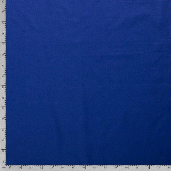 Uni katoen kobalt blauw