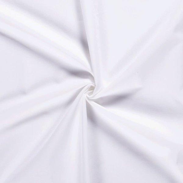 Uni katoen wit