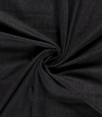 Voorgewassen denim zwart stretch