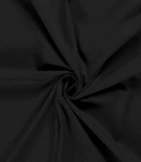 Katoenen tricot zware kwaliteit zwart