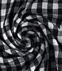 Katoenen ruit zwart wit