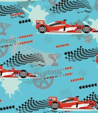 French terry race auto aqua