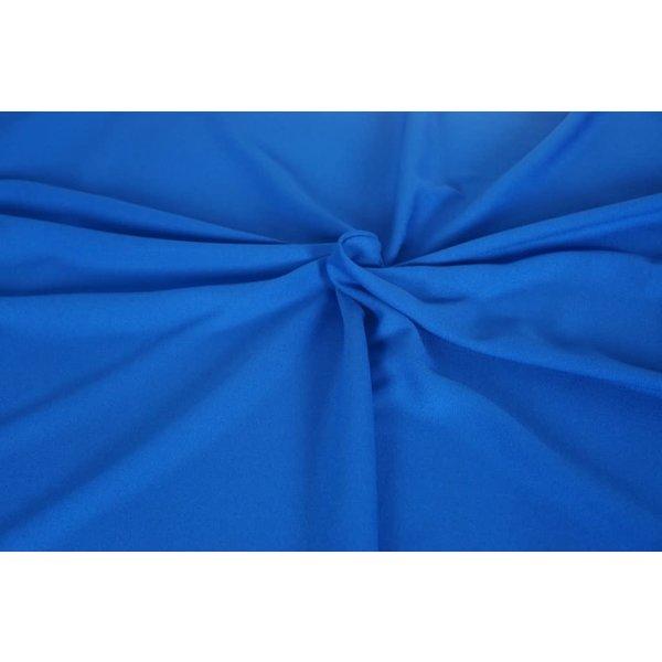 Uni crepe kobaltblauw