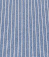 Katoen blauw wit gestreept
