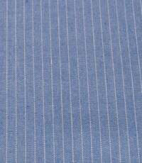Katoen blauw wit gestreept smal