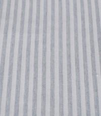 Katoen grijs wit gestreept
