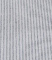 Katoen grijs wit gestreept smal