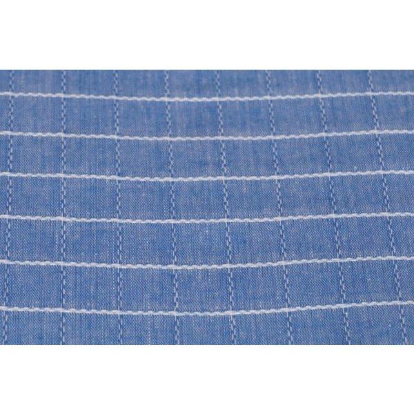 Katoen bontweef blauw-wit
