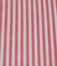 Katoen rood wit gestreept