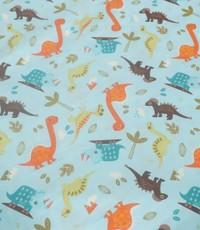 Kinderkatoen dinosaurus lichtblauw