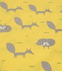 Kinderkatoen vosjes geel