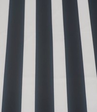 Scuba lengtestreep zwart met ecru