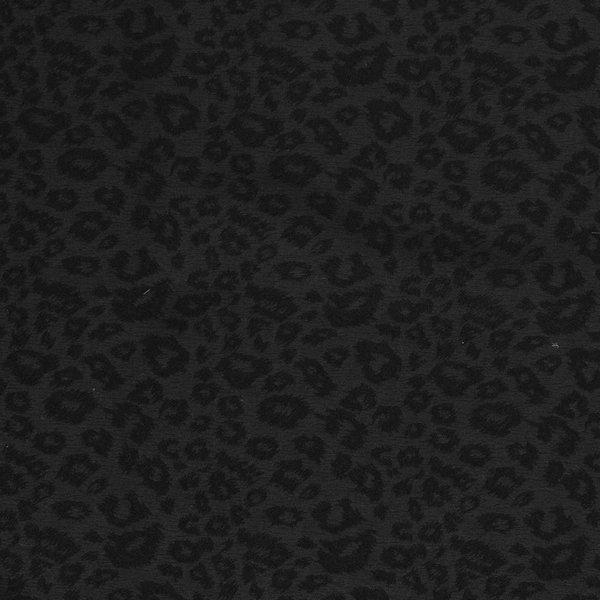 Stretch katoen met ingeweven print zwart