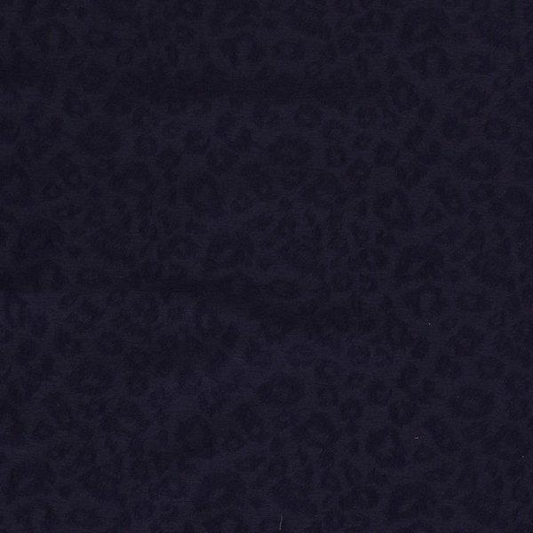 Stretch katoen met ingeweven print blauw