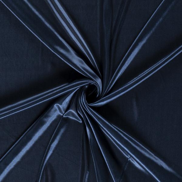Voeringstof charmeuse blauw