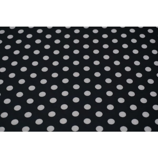 Tricot polka dot zwart-wit