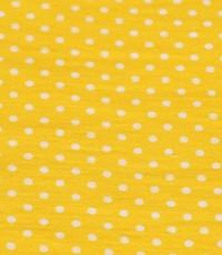 Stretch geel met wit stipje