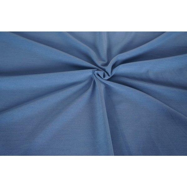 Gabardine jeansblauw
