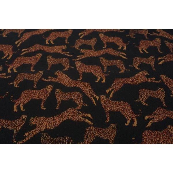 Gebreid cheetah zwart met bruin