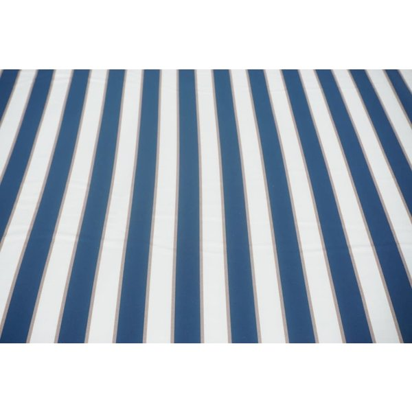 Stretch katoen brede streep oud blauw