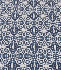 Stretch katoen ikat style blauw