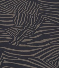 Stretch katoen zebra donker legergroen