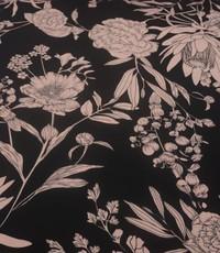 Satijn met bruine bloem