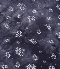 tye and dye donkerblauw stippenbloem