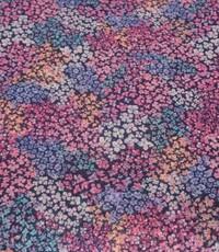 Crepe  chiffon met rose bloemetjes