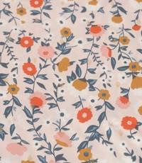 Oud rose bloemetje met lurex nopje
