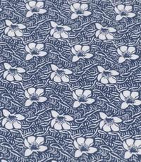 Popeline bloemetje blauw-wit