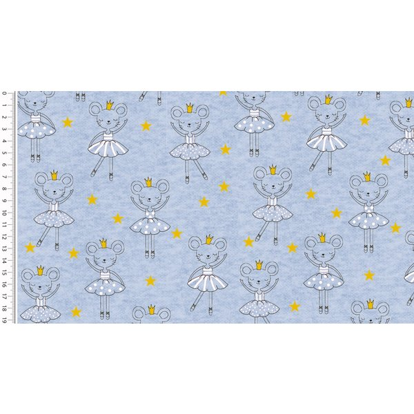 Jogging jeansblauw glittermuis