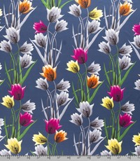 Tricot tulp jeansblauw