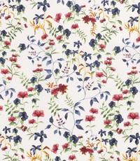 Half linnen mille fleurs wit