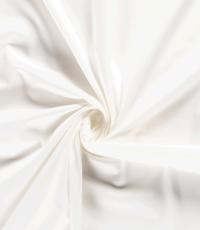 Stretch katoen off-white met satijnbinding