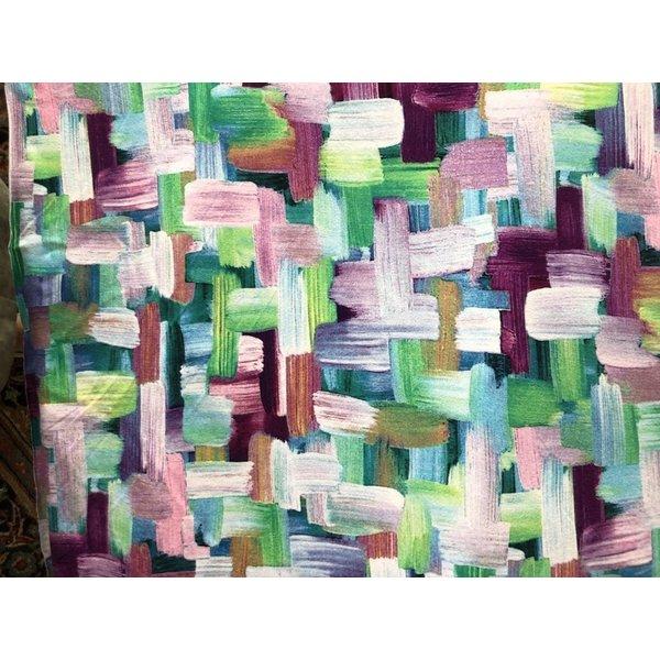 Tricot schildersveeg lila en paars
