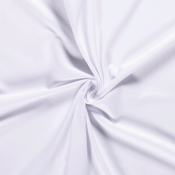 Katoenen tricot zware kwaliteit wit