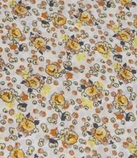 Wit met geel klein bloemetje
