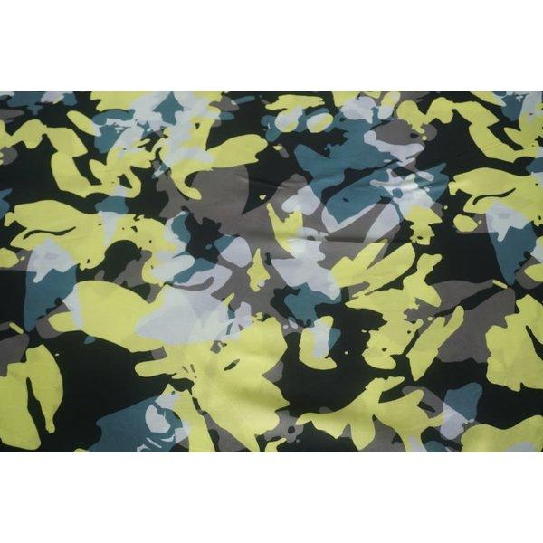 Popeline armylook geel