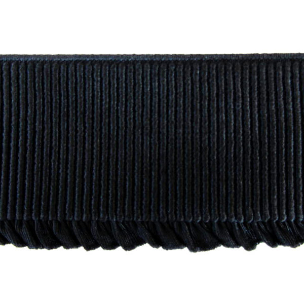 Ruche elastiek 6mm  zwart