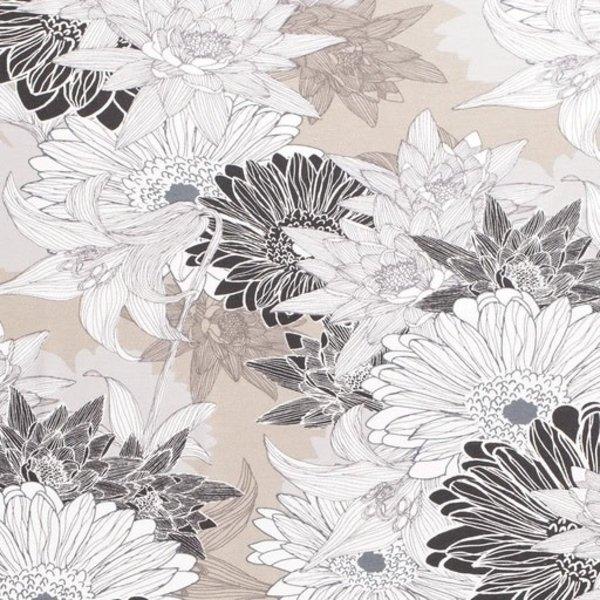 Tricot met bruin en grijstinten bloem