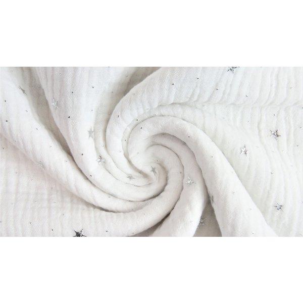 Hydrofiel met zilveren sterretjes wit