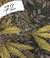Lycra netstof groen met blad