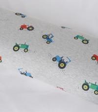 Jogging grijs melee met tractors in groen blauw en rood