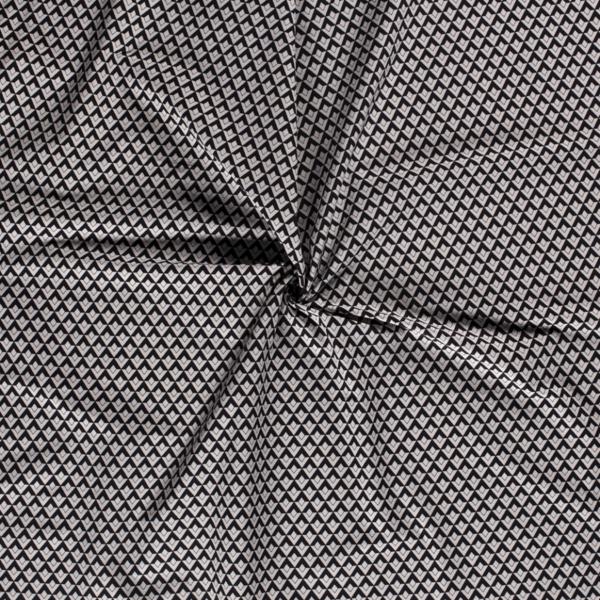 Stretch katoen met zwart witte wyber